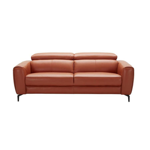 J&M Furniture Cooper Sofa in Pumpkin