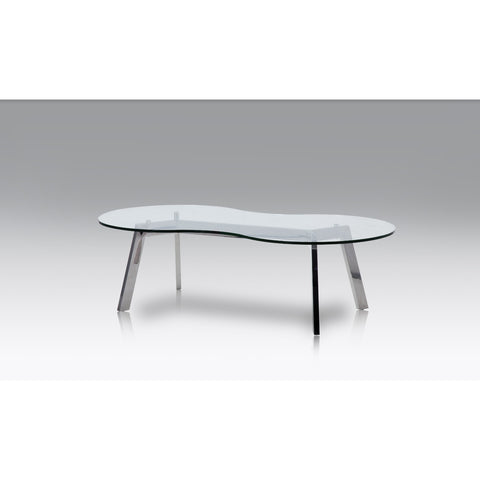 J&M Furniture Corso Coffee Table in Glass