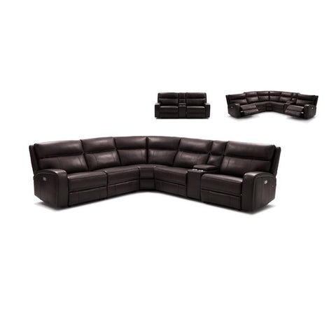 J&M Furniture Cozy Motion Sectional In Chocolate in Chocolate