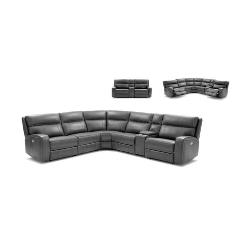 J&M Furniture Cozy Motion Sectional In Grey in Grey