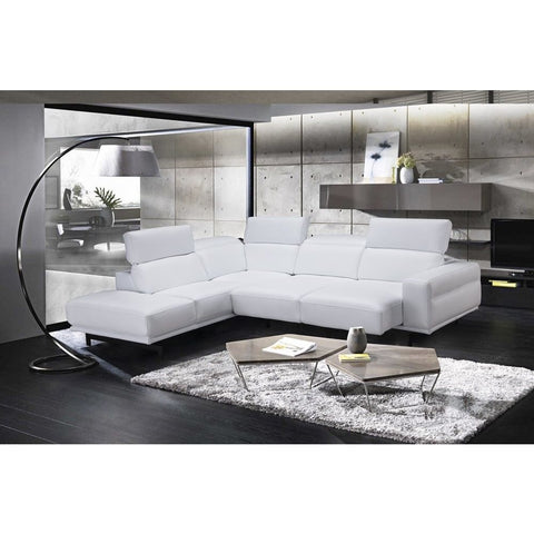 J&M Furniture Davenport Snow White Sectional