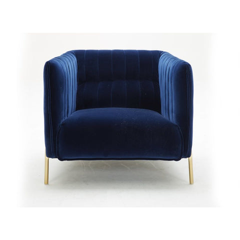 J&M Furniture Deco Chair in Blue Fabric