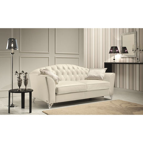 J&M Furniture Divina Loveseat in Butter Leather