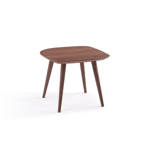 J&M Furniture Downtown End Table in Walnut