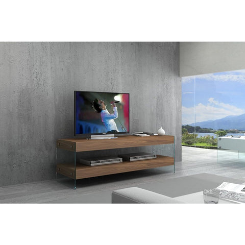 J&M Furniture Elm Mini TV Base White High Gloss