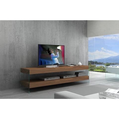 J&M Furniture Elm TV Base White High Gloss