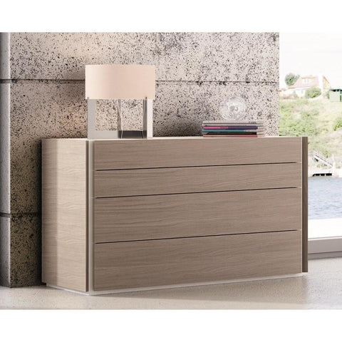 J&M Furniture Evora Dresser in Wenge & Light Grey Accents