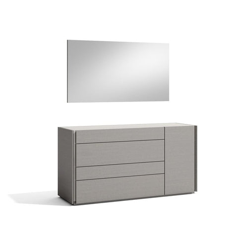 J&M Furniture Faro Dresser w/Mirror in Grey