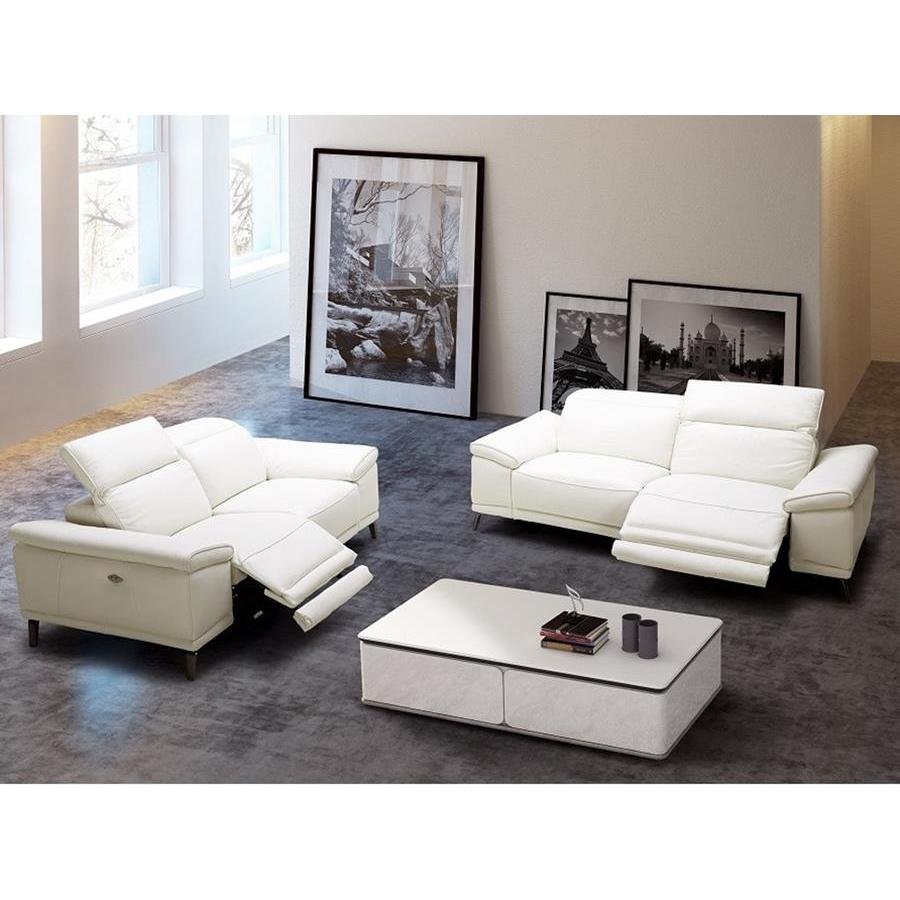 J M Furniture Gaia 2 Piece Living Room Set In White Beyond Stores