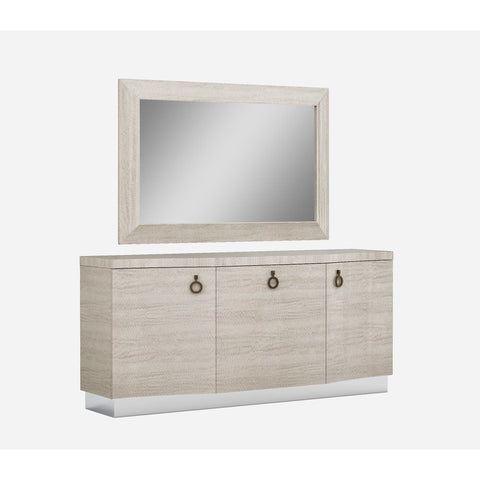J&M Furniture Giorgio Buffet w/Mirror in Light Maple