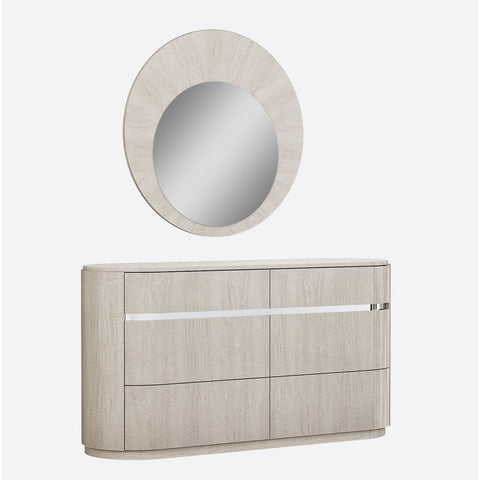 J&M Furniture Giorgio Dresser w/Mirror in Light Maple