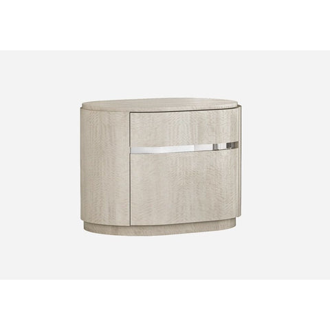 J&M Furniture Giorgio Nightstand in Light Maple
