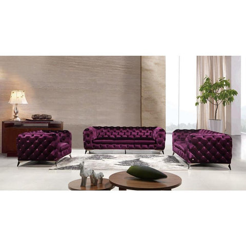 J&M Furniture Glitz Loveseat in Purple