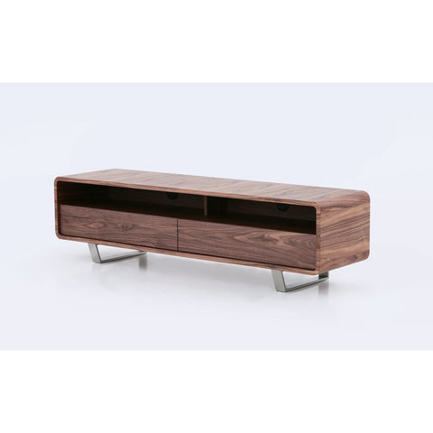 J&M Furniture Greenwich TV Base in Walnut