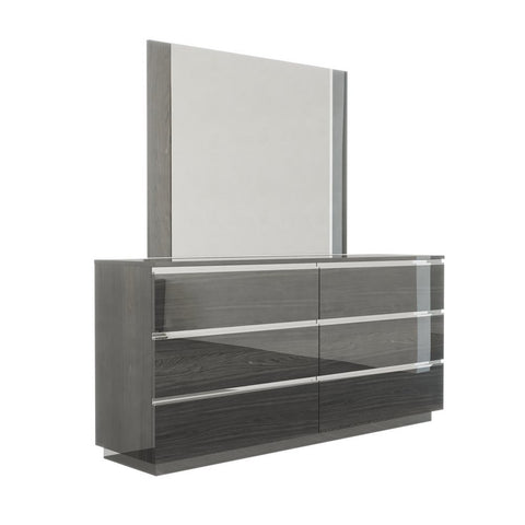 J&M Furniture Hazel Dresser w/Mirror in Grey