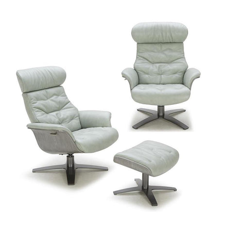 J&M Karma 2 Piece Mint Green Chair And Ottoman Set