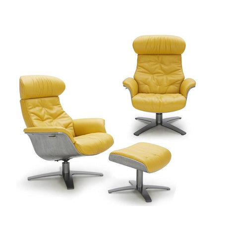 J&M Karma 2 Piece Mustard Chair And Ottoman Set