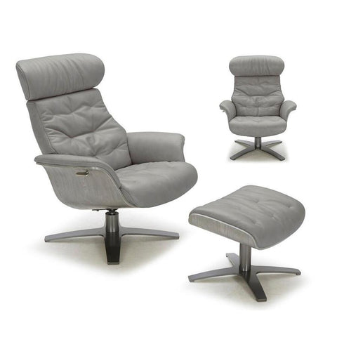 J&M Furniture Karma Chair in Grey