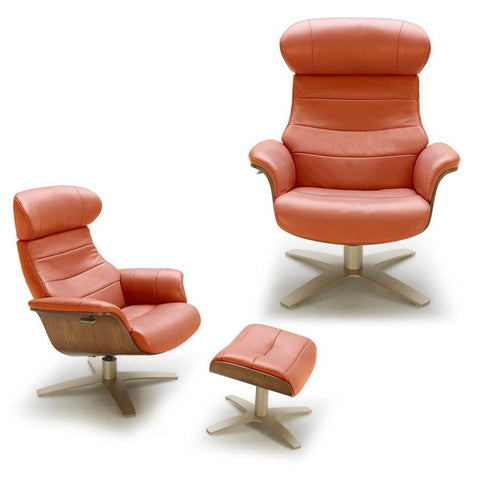J&M Furniture Karma Chair in Pumpkin