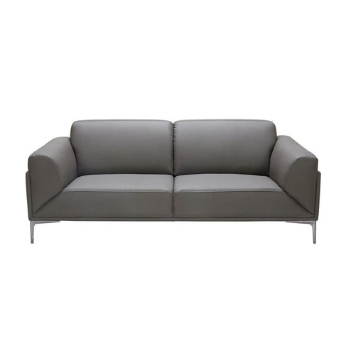 J&M Furniture King Sofa in Grey Leather