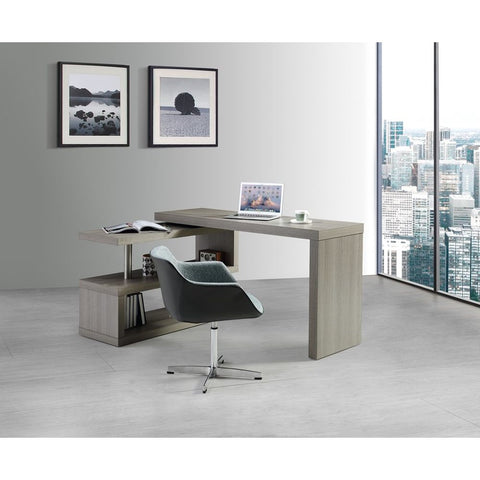 J&M Furniture LP A33 Office Desk in Grey