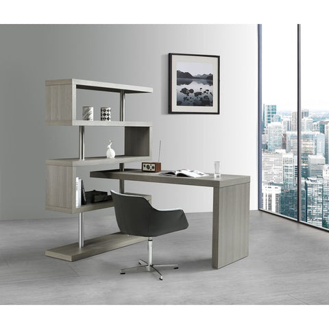 J&M Furniture LP KD002 Office Desk in Grey