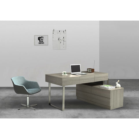 J&M Furniture LP KD12 Office Desk in Grey