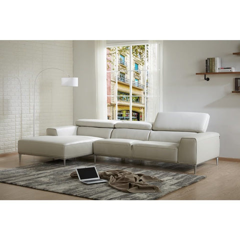 J&M Furniture LeCoultre Sectional in Light Grey