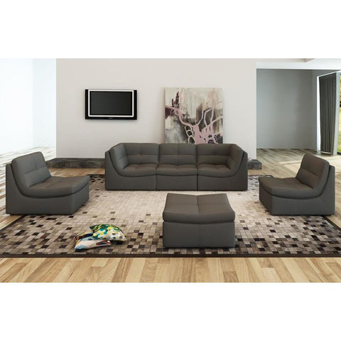J&M Furniture Lego 6 Piece Living Room Set in Grey