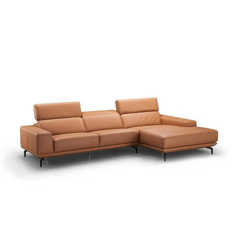 J&M Furniture Lima Sectional Right Hand Facing Chiase in Peru Orange
