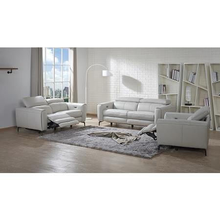 J&M Furniture Lorenzo 3 Piece Living Room Set in Light Grey