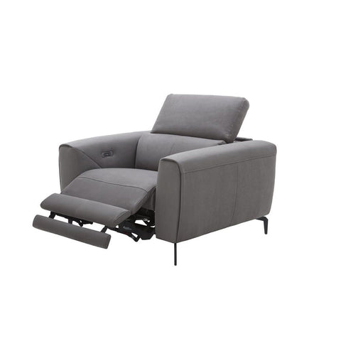 J&M Furniture Lorenzo Chair in Grey Fabric