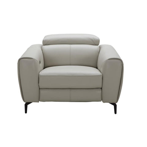J&M Furniture Lorenzo Chair in Light Grey