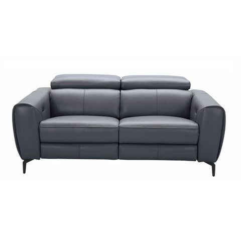 J&M Furniture Lorenzo Loveseat in Blue Grey