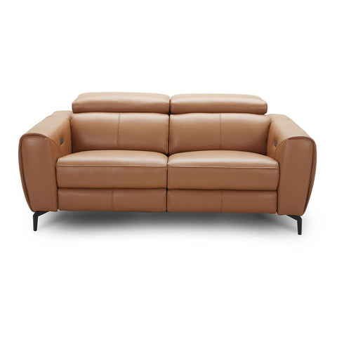 J&M Furniture Lorenzo Loveseat in Caramel