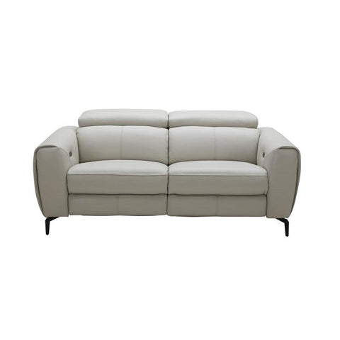 J&M Furniture Lorenzo Loveseat in Light Grey