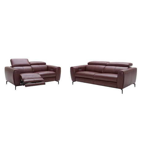 J&M Furniture Lorenzo Loveseat in Merlot