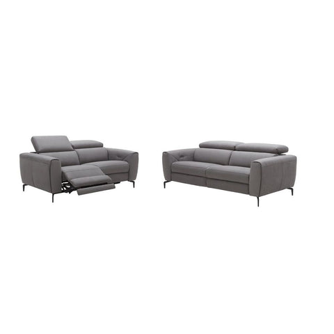 J&M Furniture Lorenzo Sofa in Grey Fabric