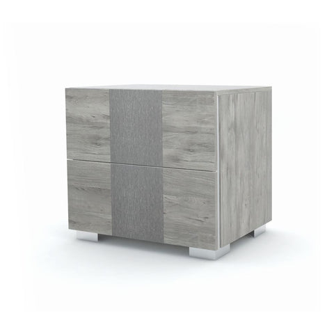 J&M Furniture Luccia Nightstand in Grey