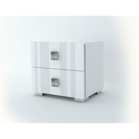 J&M Furniture Mika Nightstand in White