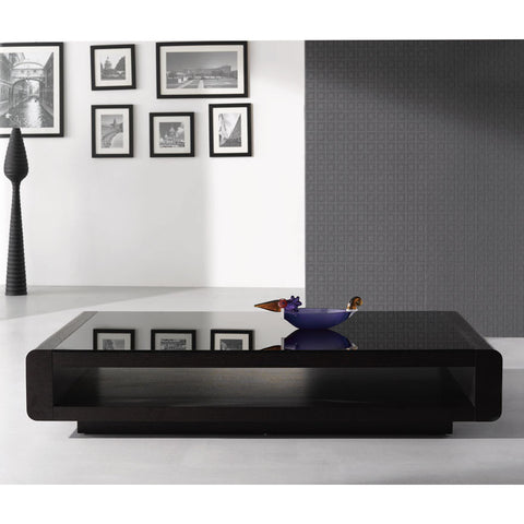J&M Furniture Modern Coffee Table 673 in Dark Oak