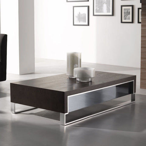J&M Furniture Modern Coffee Table 888 in Dark Oak