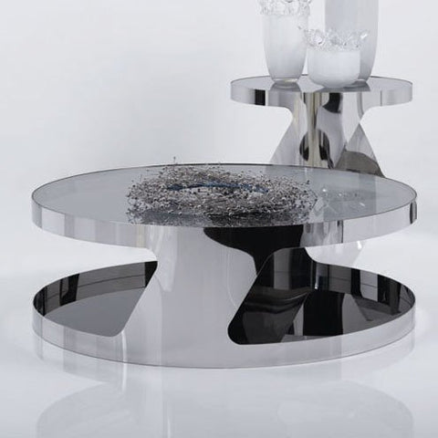 J&M Furniture Modern Coffee Table 931 in Glass & Steel