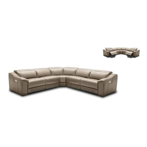 J&M Furniture Nova Motion Sectional In Dark Grey in Tan