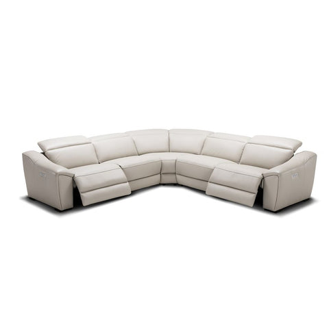 J&M Furniture Nova Motion Sectional In Silver Grey