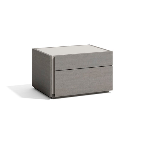 J&M Furniture Porto Nightstand in Grey