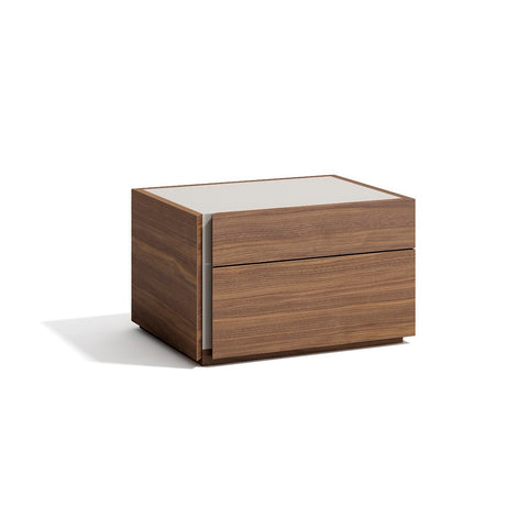 J&M Furniture Porto Nightstand in Walnut