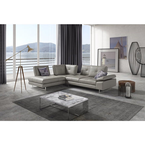 J&M Furniture Prive Sectional in Grey