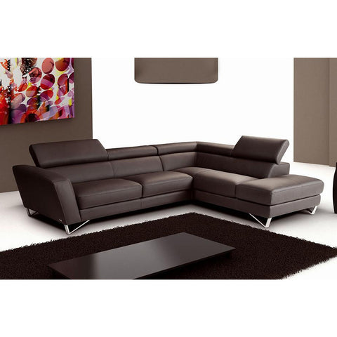 J&M Furniture Sparta Chocolate Color Left Hand Facing