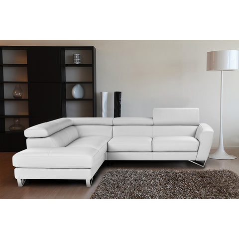 J&M Furniture Sparta White Color Left Hand Facing